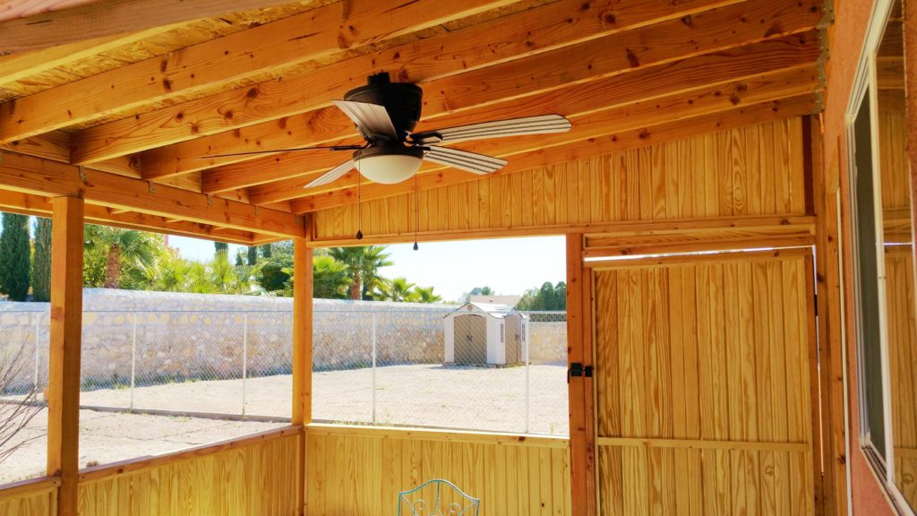 Rustic outdoor covered patio jmj remodeling experts for Rustic covered decks