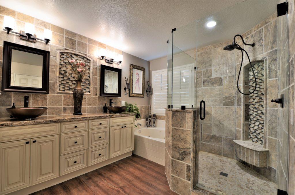 Elegant SpaLike Retreat Bathroom Remodel JMJ Remodeling Experts - Spa like bathroom remodel